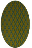 rug #181157 | oval green geometry rug