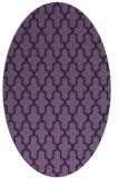 rug #181193 | oval purple traditional rug