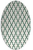 rug #181229 | oval green traditional rug