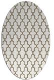 rug #181237 | oval white rug