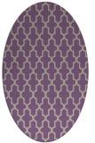 rug #181277 | oval purple traditional rug