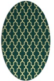 rug #181301 | oval yellow rug