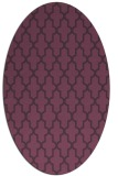 rug #181321 | oval purple geometry rug