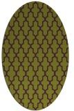 rug #181325 | oval green traditional rug