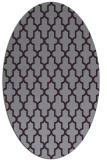 rug #181333 | oval purple rug