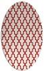 rug #181337 | oval red geometry rug