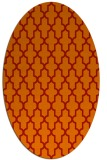 rug #181341 | oval orange rug