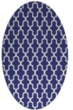 rug #181377 | oval blue geometry rug