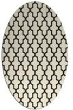 rug #181405 | oval black geometry rug