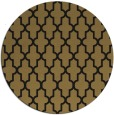 rug #181821 | round mid-brown traditional rug