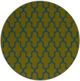 rug #181861 | round blue-green traditional rug