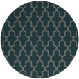 rug #181929 | round blue-green traditional rug