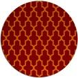 rug #181989 | round orange geometry rug