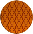 rug #182057 | round red-orange traditional rug
