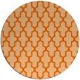 rug #182061   round red-orange traditional rug
