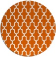 rug #182069 | round red-orange traditional rug