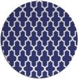 rug #182081   round white geometry rug