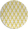 rug #182101 | round yellow traditional rug