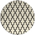 rug #182109 | round black traditional rug