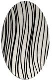 rug #182861   oval white stripes rug
