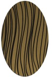 rug #182877 | oval brown stripes rug