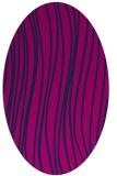 rug #182885   oval pink stripes rug