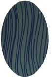rug #182889   oval blue stripes rug
