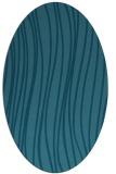 rug #182905   oval blue-green natural rug
