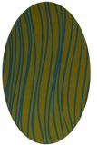 rug #182917 | oval blue-green natural rug