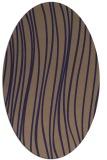 rug #182965   oval beige stripes rug