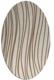 rug #183009 | oval beige stripes rug