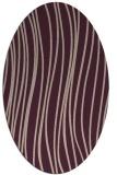 rug #183013   oval pink stripes rug