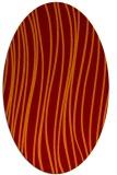 rug #183045 | oval red-orange stripes rug