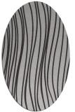 rug #183057 | oval red-orange stripes rug