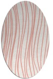 rug #183077 | oval white stripes rug