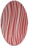 rug #183080 | oval stripes rug