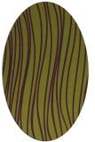 rug #183085 | oval purple rug