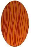 rug #183101 | oval orange stripes rug