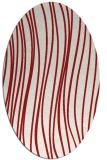 rug #183105 | oval red natural rug