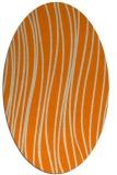 rug #183173   oval beige stripes rug