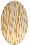 rug #183205 | oval white stripes rug