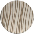 rug #183713 | round mid-brown stripes rug
