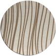 rug #183713 | round mid-brown stripes rug