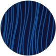 rug #183729 | round blue stripes rug