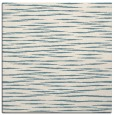 rug #186049 | square blue-green stripes rug
