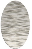 rug #186377 | oval white stripes rug