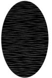 rug #186385 | oval black natural rug