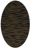 rug #186397   oval mid-brown stripes rug