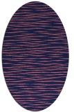 rug #186469 | oval blue-violet stripes rug