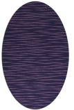 rug #186473 | oval blue-violet stripes rug